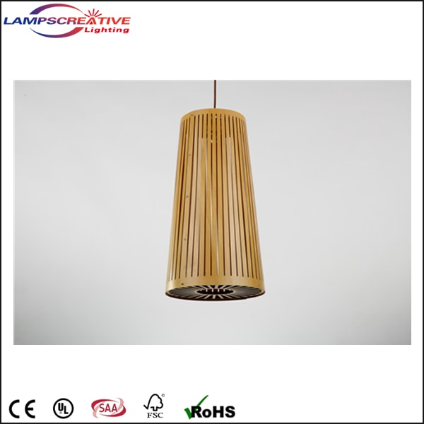 Wooden Wall Lamp Shades : Indoor Modern Handwoven Wooden Shade Pendant Lamp/Hanging ?LCP-ZT Wooden lamp manufacturer ...
