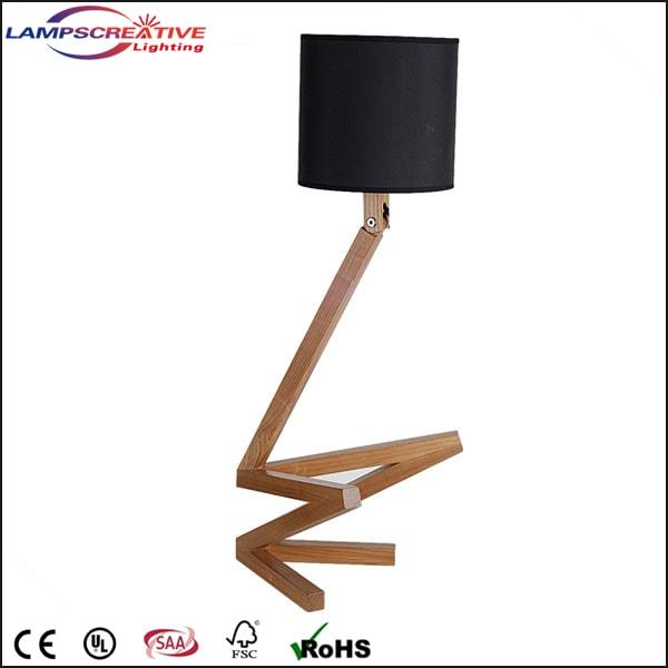 wood desk lamp industrial gray desk lamp modern bedside lamps reading lamp manly light wood. Black Bedroom Furniture Sets. Home Design Ideas