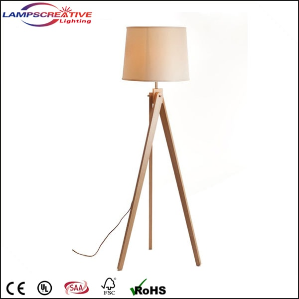 Unique style 3 legs wooden floor lamp good for home or hotel name mozeypictures Gallery